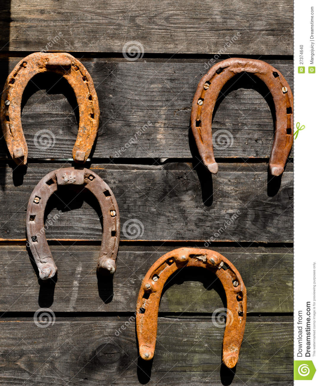 How To Bring Good Luck horseshoes - symbols of good luck stock photo - image: 27374640