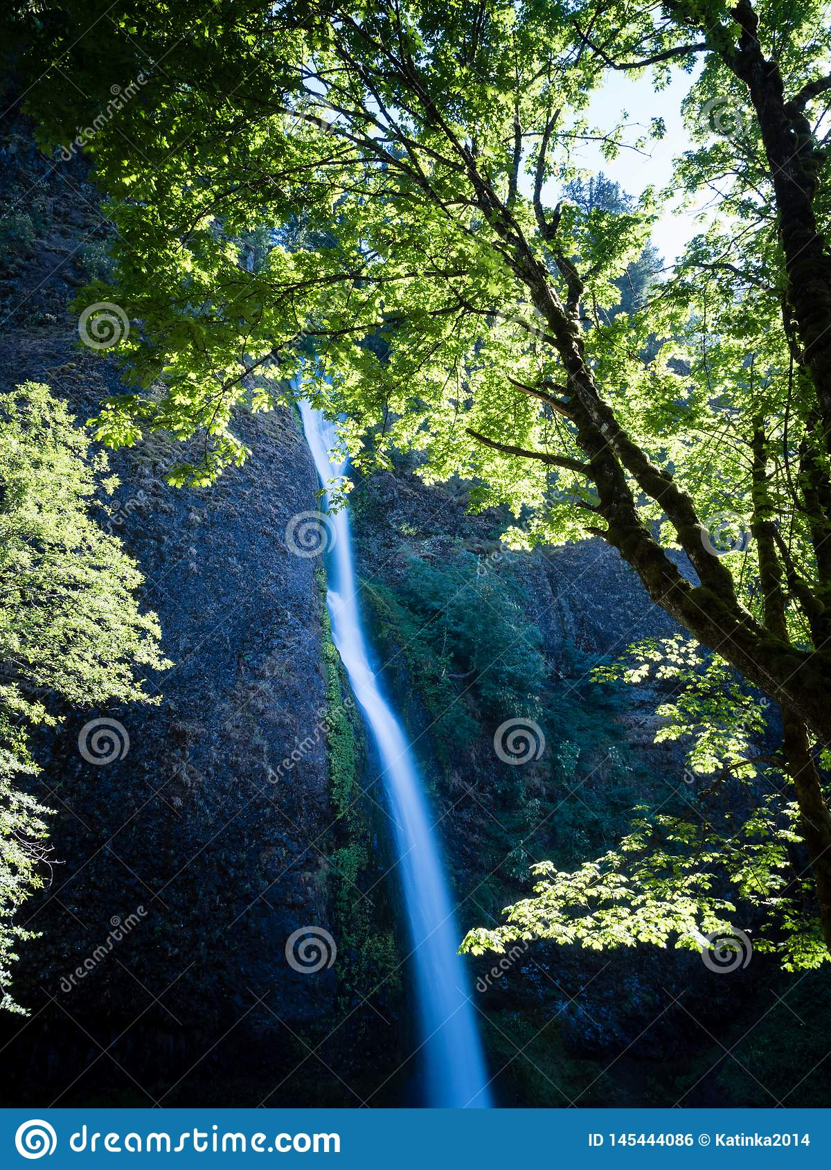 Horsetail Falls in Columbia River Gorge, Oregon, USA
