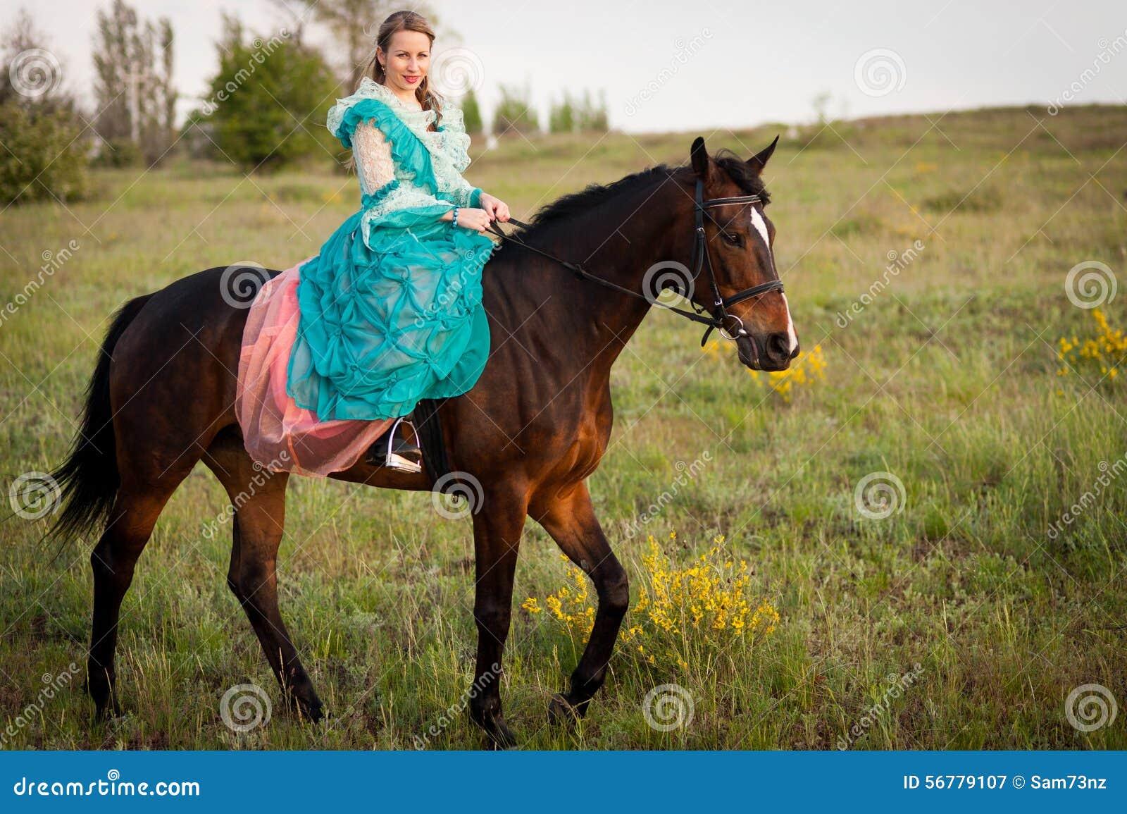 Horsewoman jazda