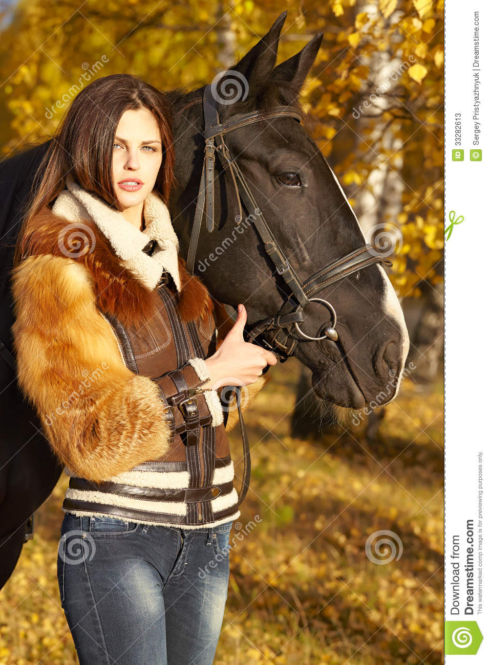 Horsewoman Stock Photos Image 33282613