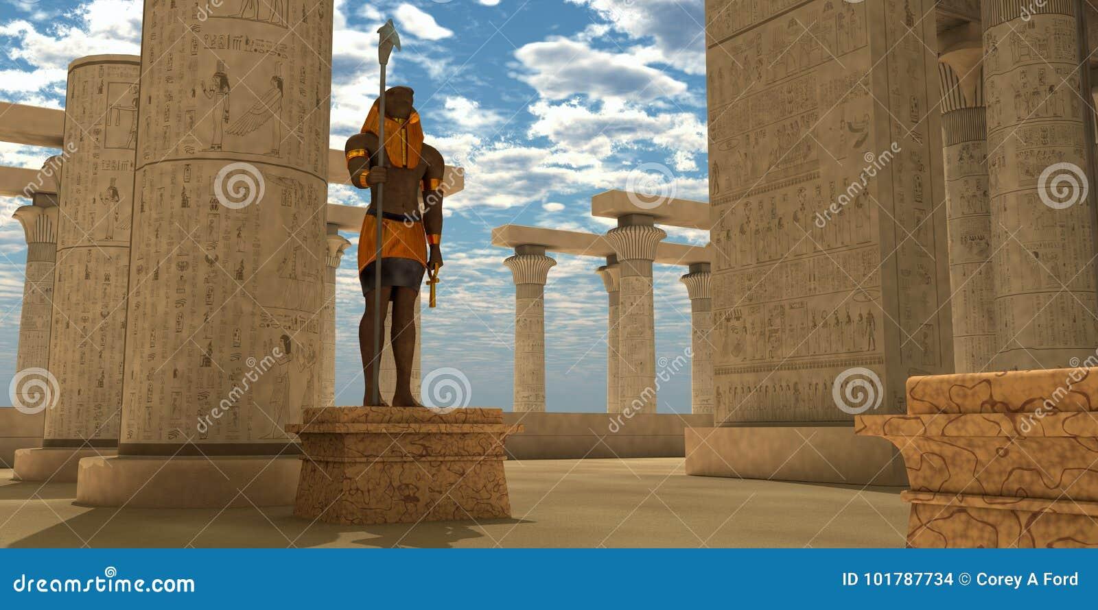 Horus埃及雕象