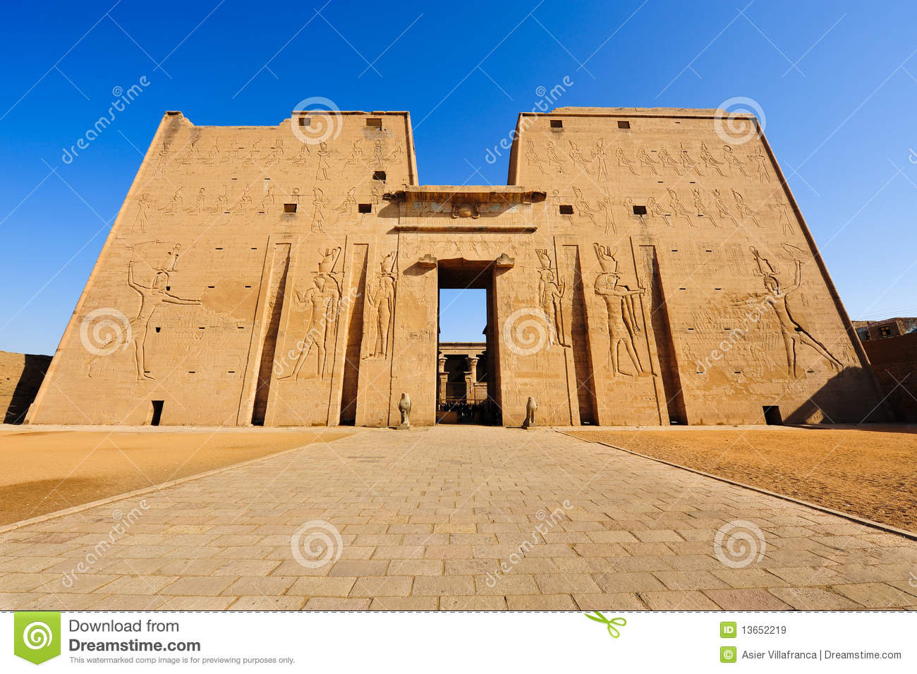 Download Horus Temple In Edfu, Egypt Stock Image - Image of egyptian, horus: 13652219