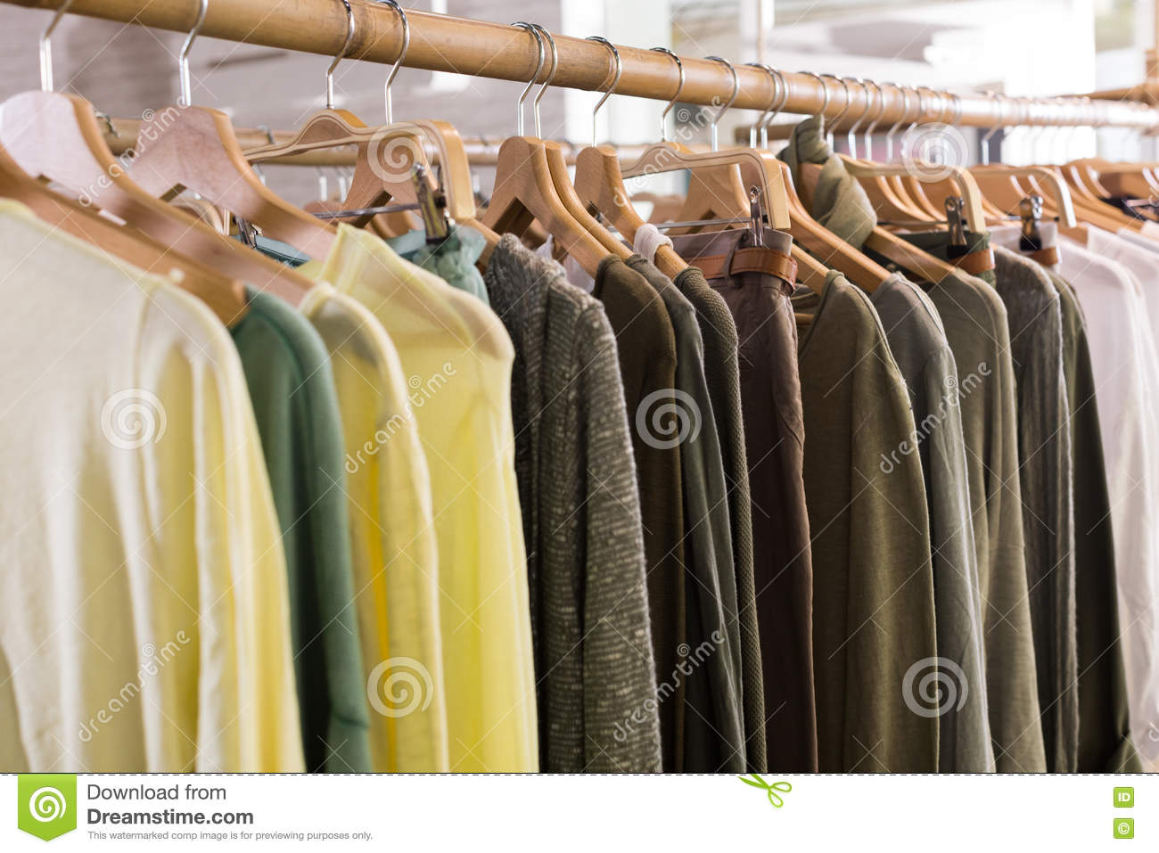 Download Hosiery Clothing In Apparel Store Interior Stock Photo Image Of Choice Assortment