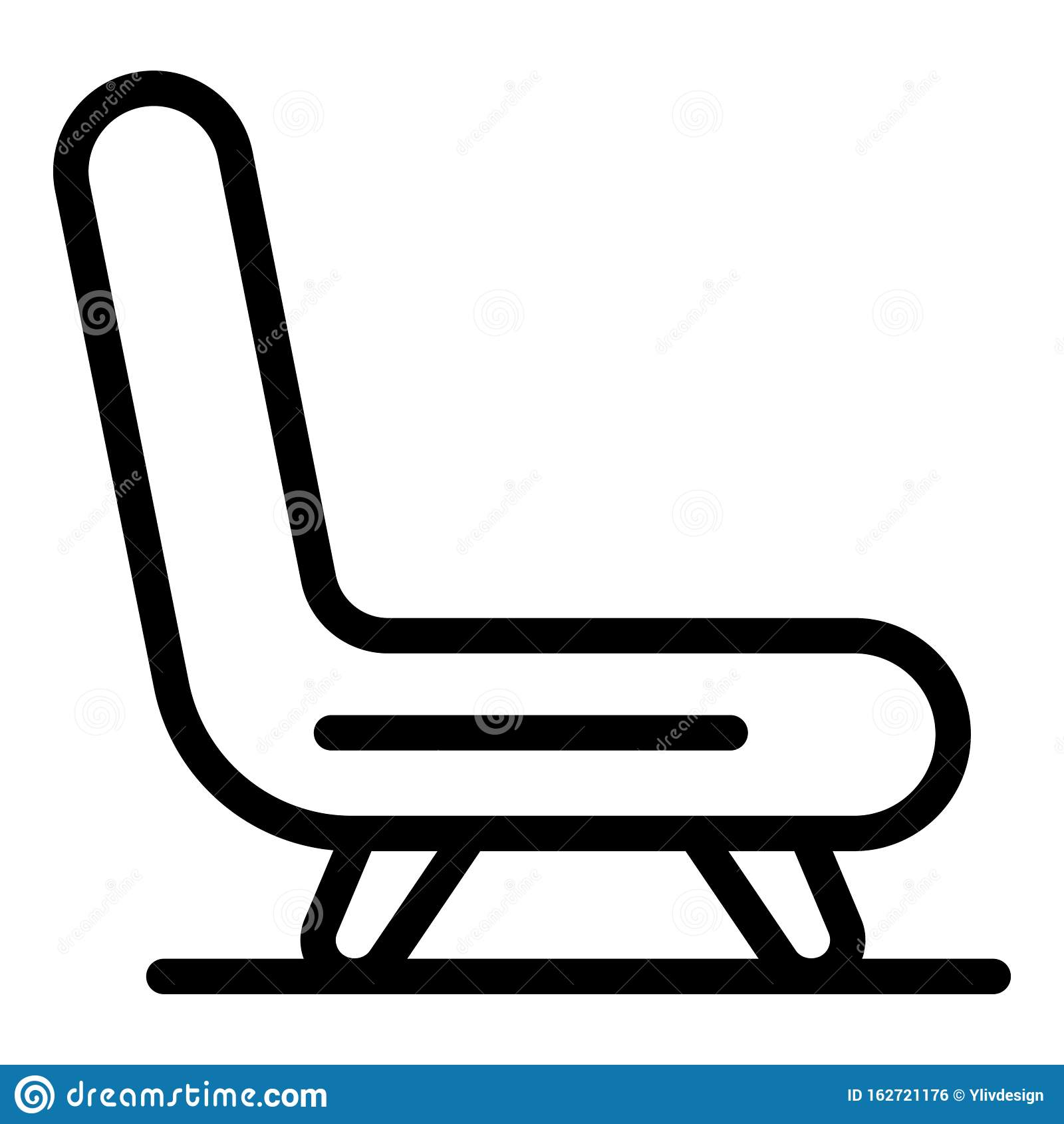 Hospital Armchair Icon, Outline Style Stock Vector ...
