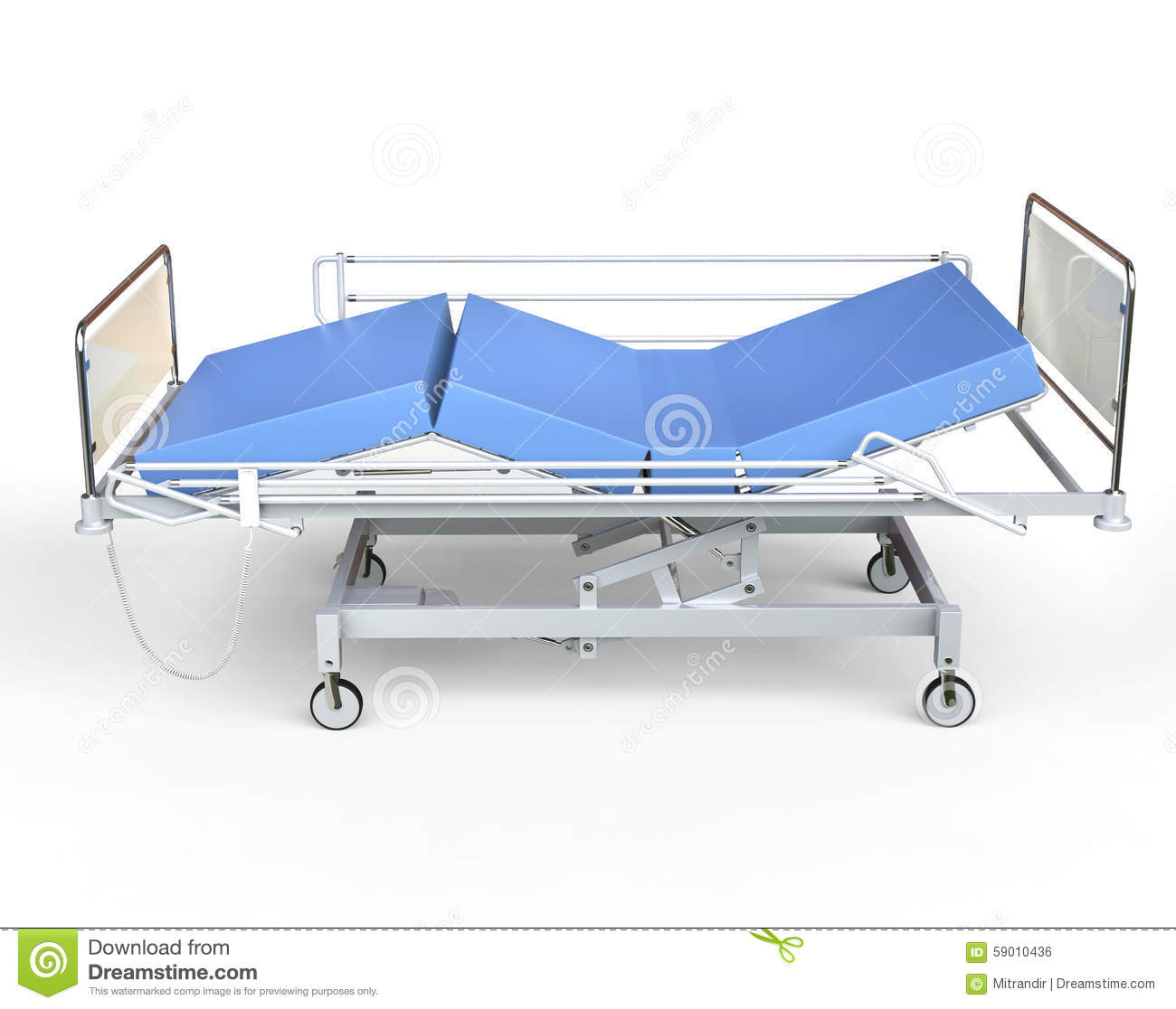 Hospital Bed Side View