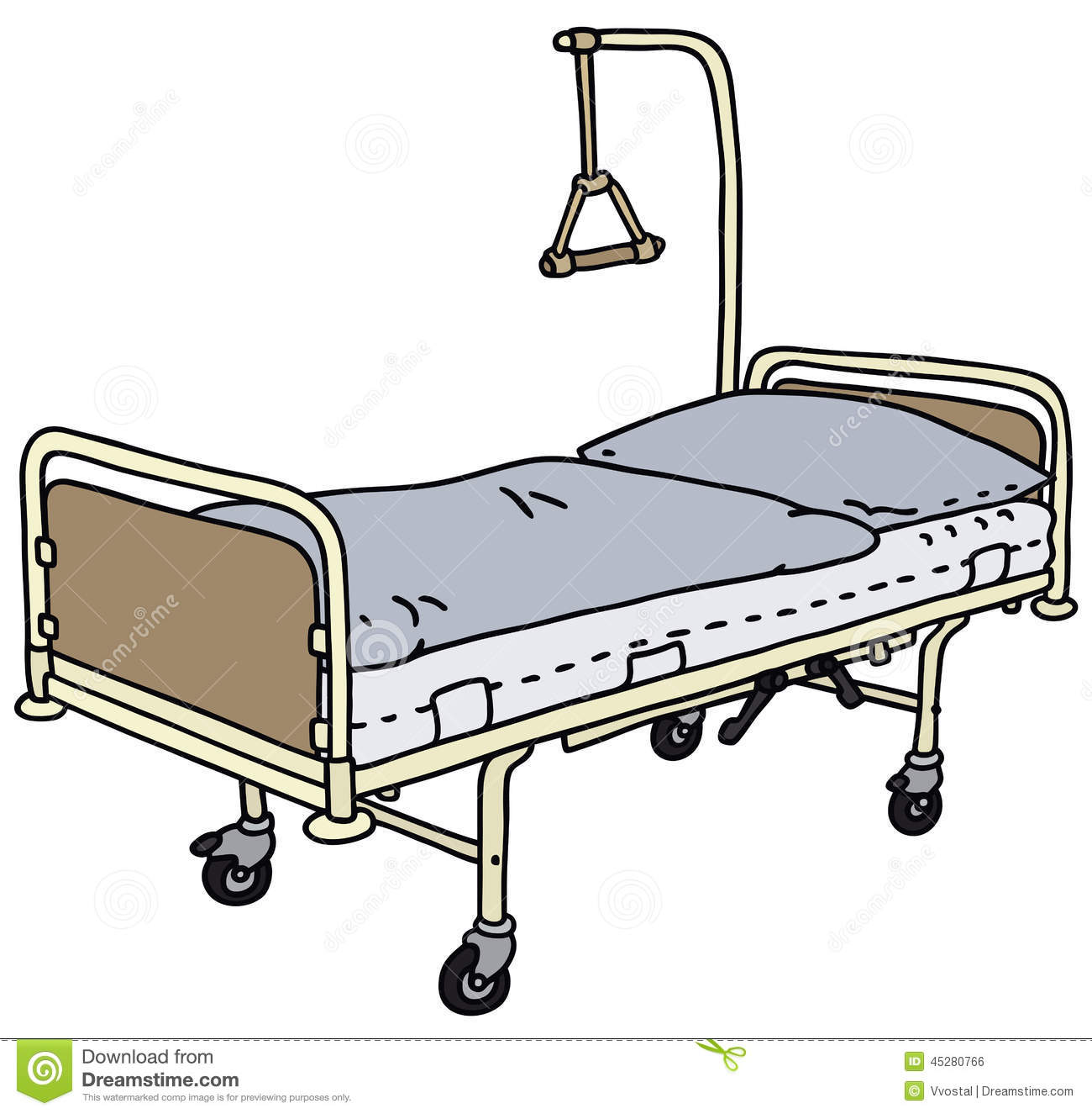 Hospital Bed Stock Vector - Image: 45280766