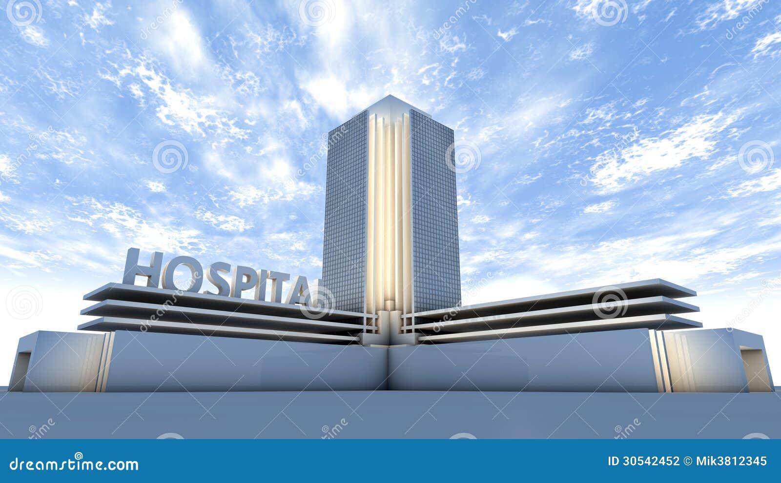 Hospital building stock illustration  Illustration of