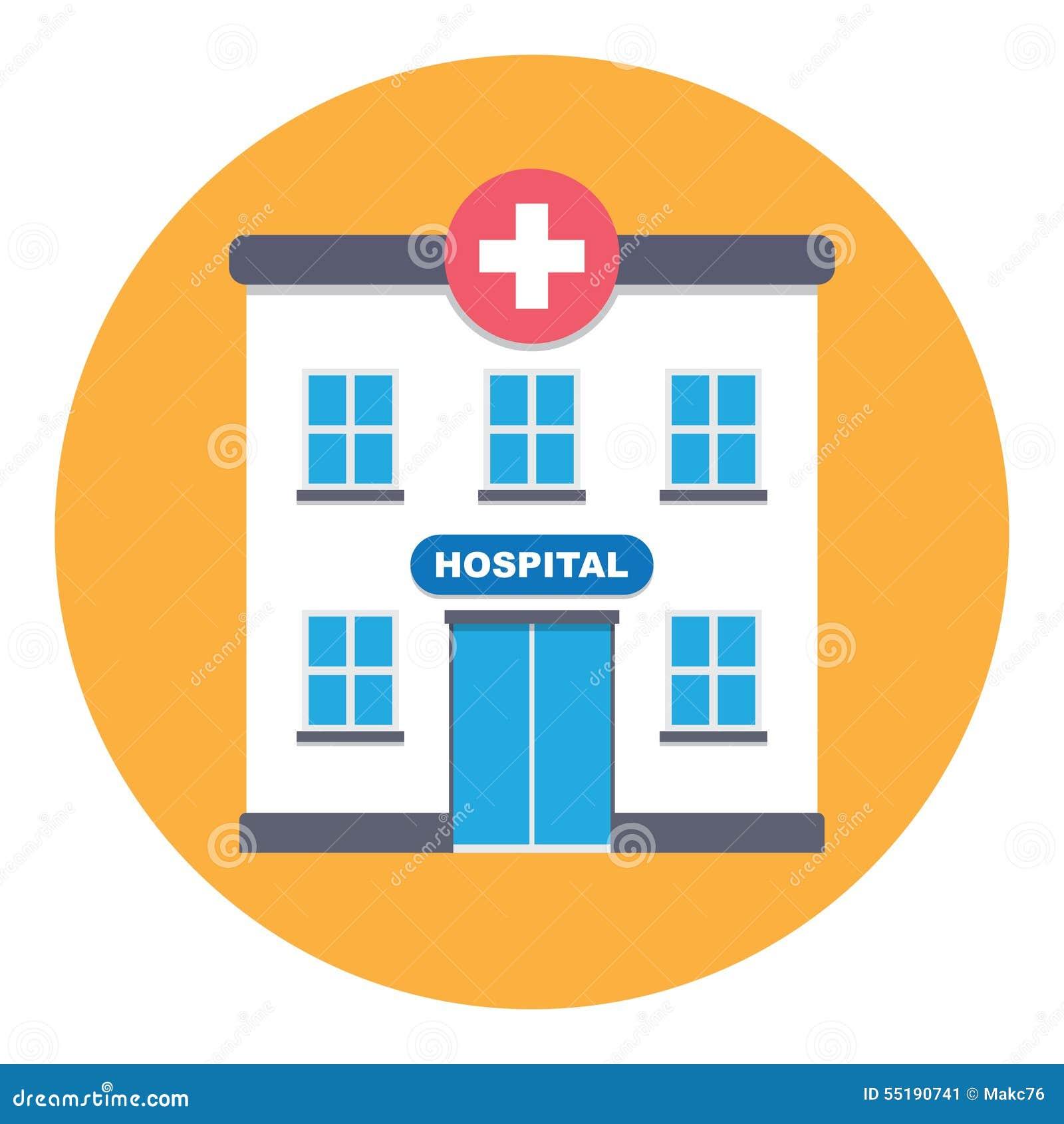 Hospital building stock vector. Illustration of laboratory ...