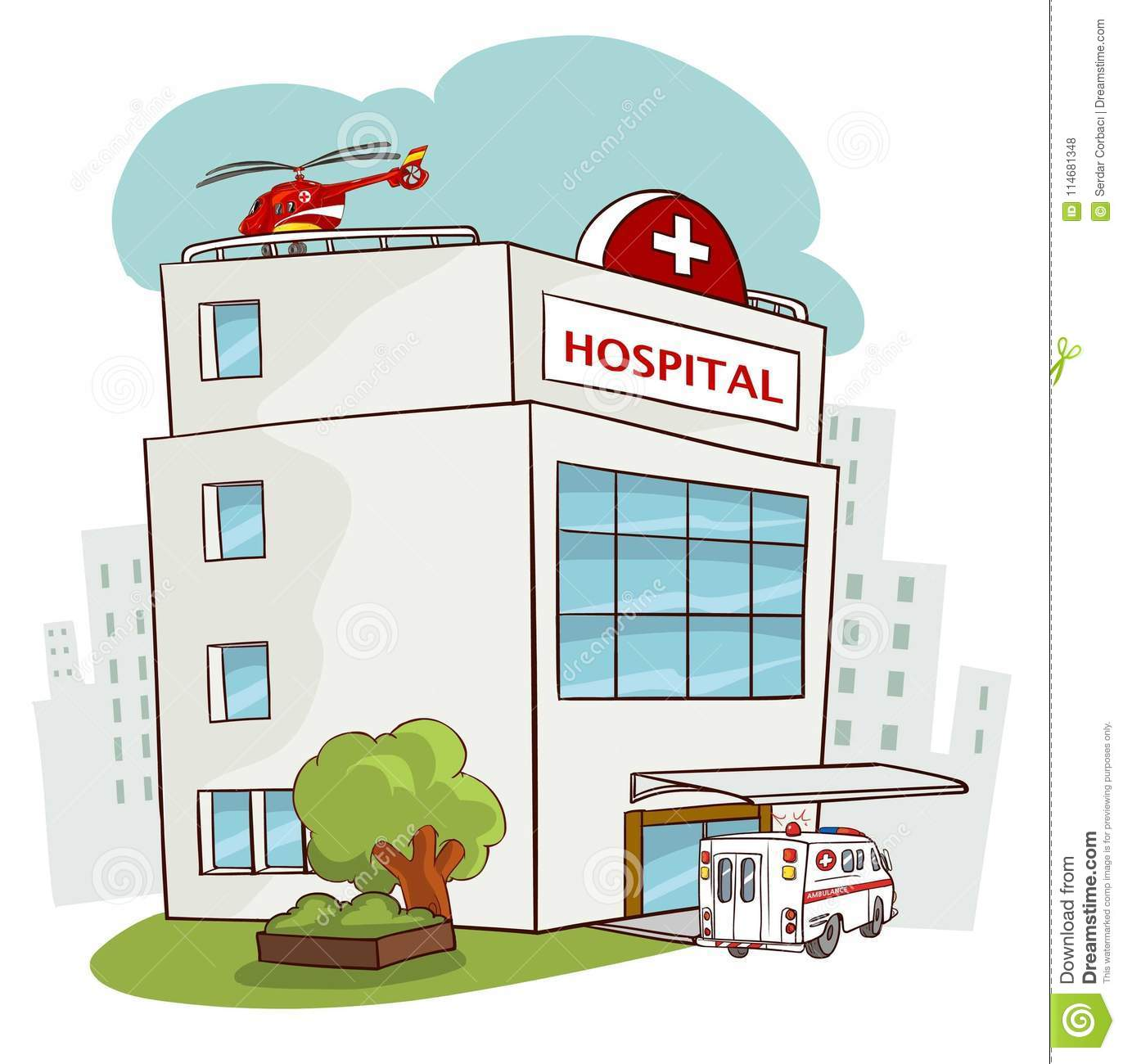 Hospital building, medical icon. Healthcare, hospital and medica