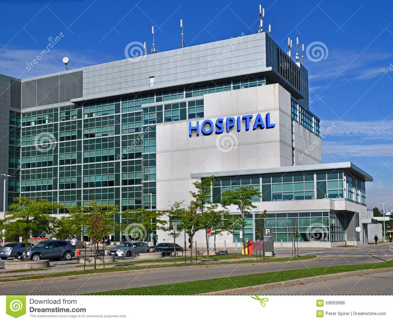 Hospital building stock photo image 59693686 Building on a lot