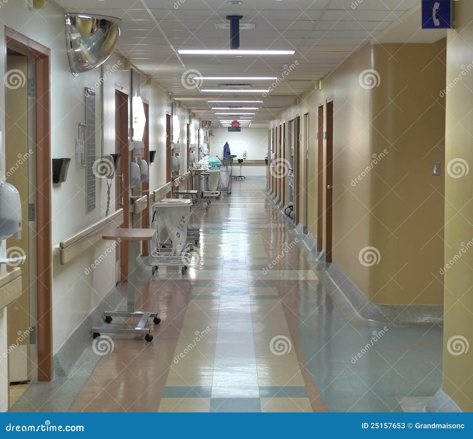 Maternity Hospital Floor Plan: Hospital Corridor Stock Photos