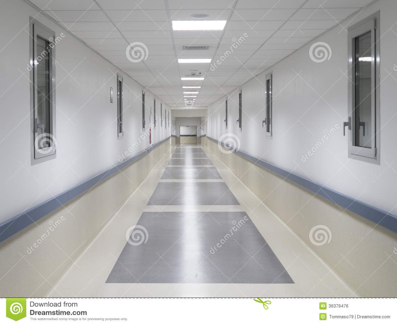 Hospital Corridor Royalty Free Stock Image - Image: 36379476