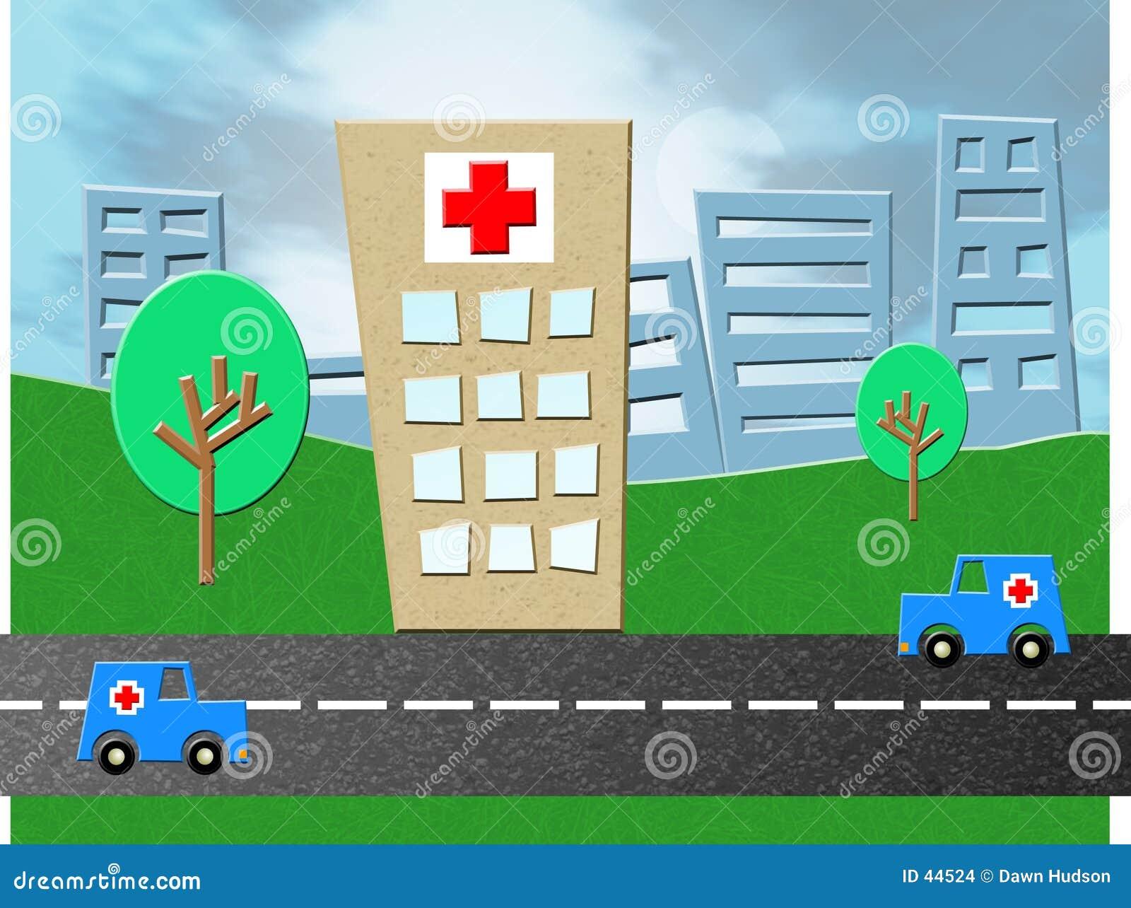 Download Hospital de la emergencia stock de ilustración. Ilustración de crítico - 44524