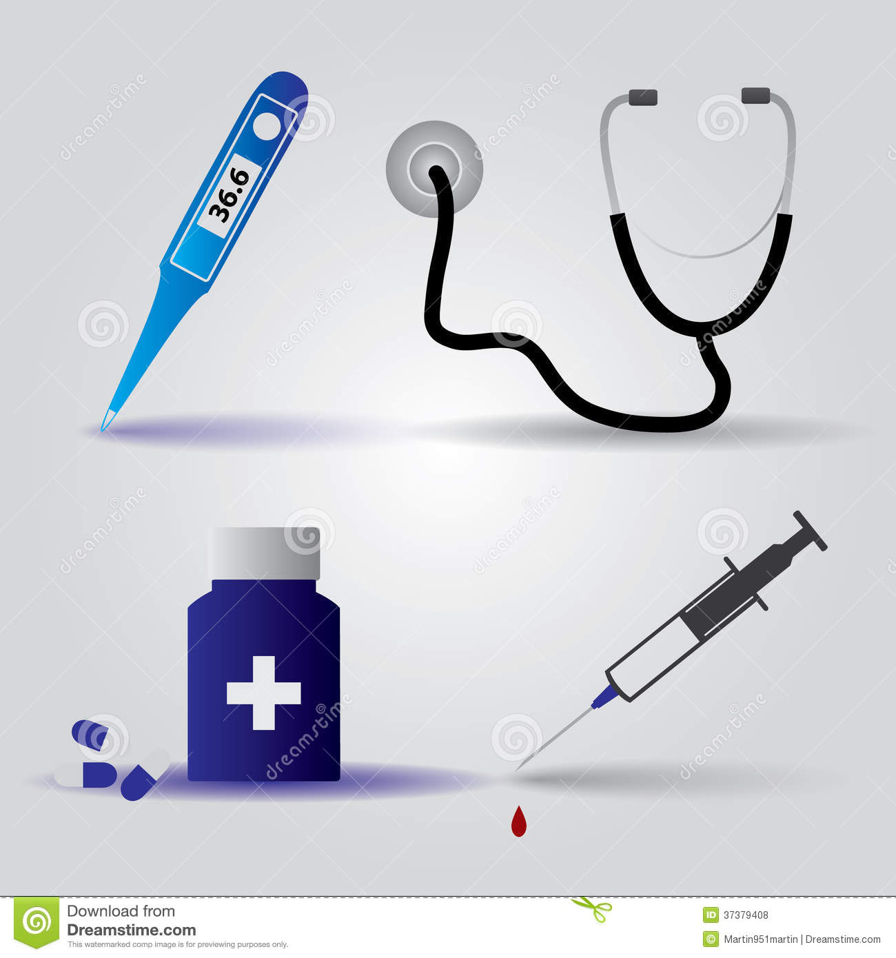 Hospital Doctor Equipment Icons Eps10 Royalty Free Stock Photos ...