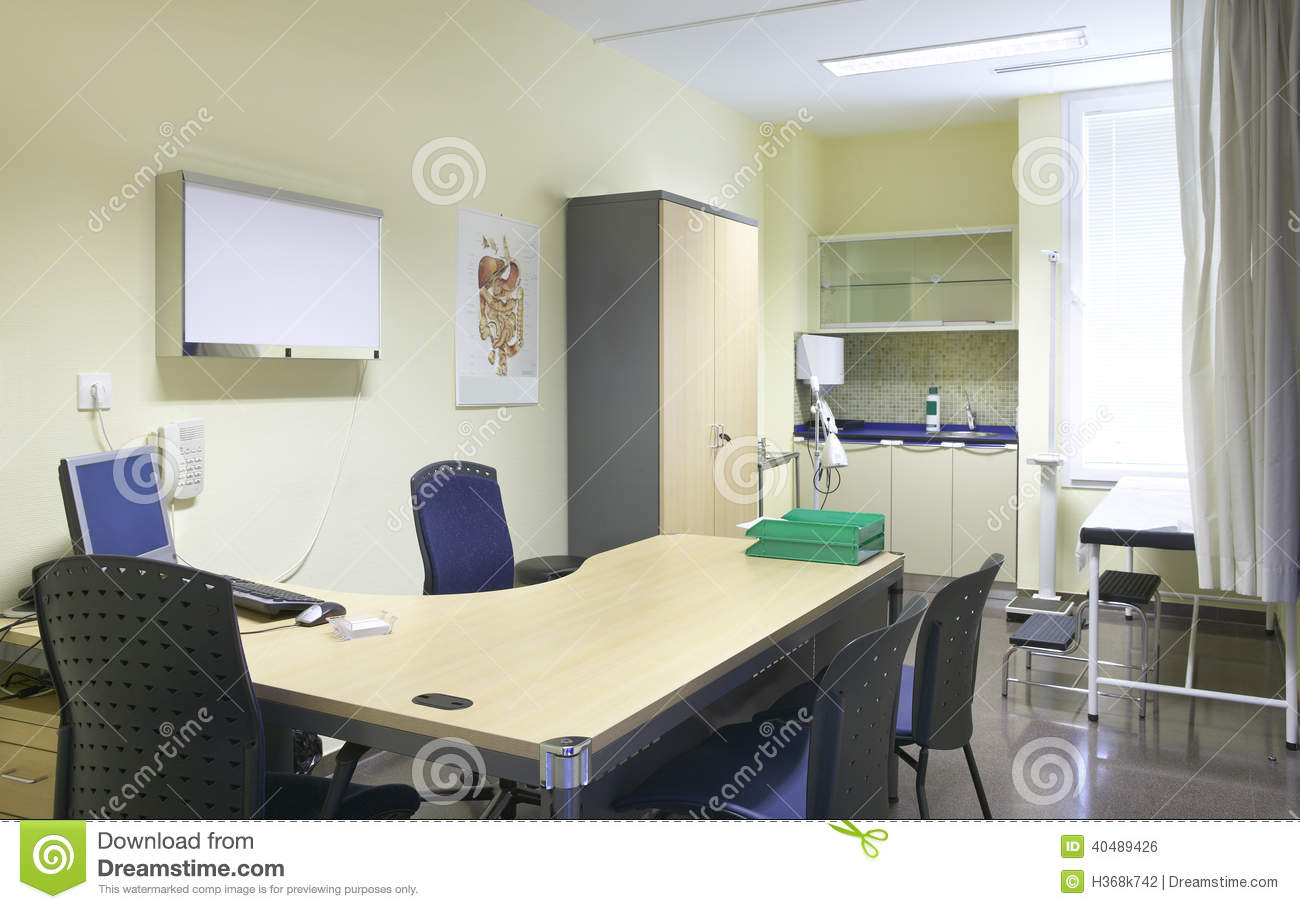 Hospital Doctor Room With Equipment And Desk Stock Photo Image Of Care Technology 40489426