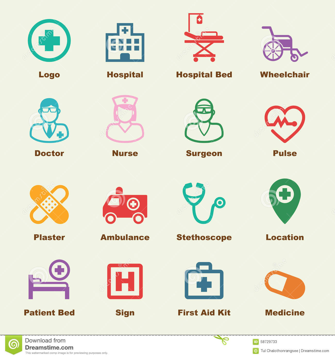 hospital elements stock vector image 58729733 hospital clip art images hospital clip art pictures