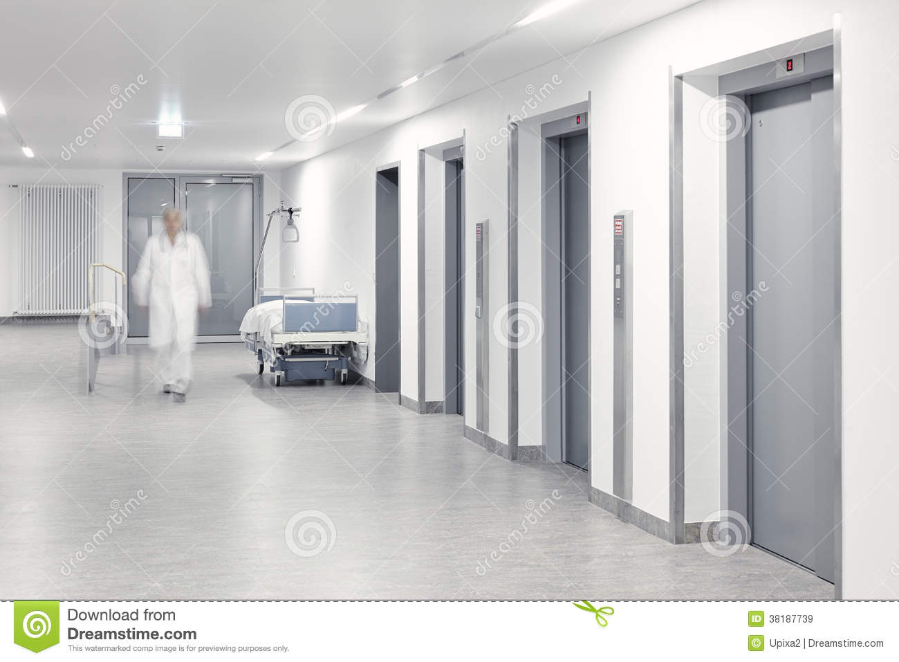 hospital elevator bed ward doctor royalty free stock