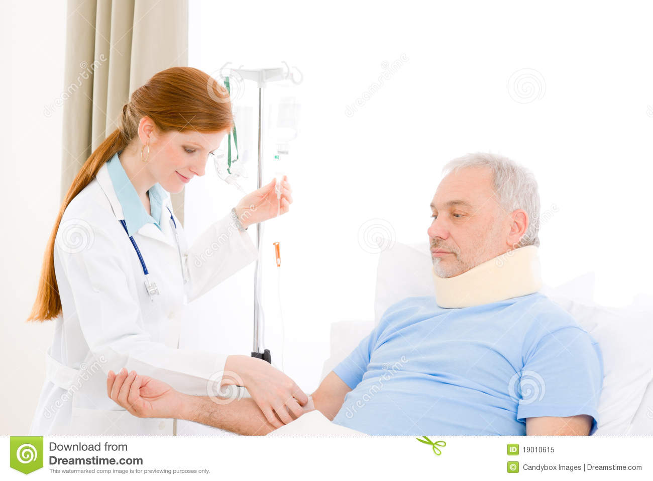 Young Female Doctor Examine Male Patient Stock Photo -2470