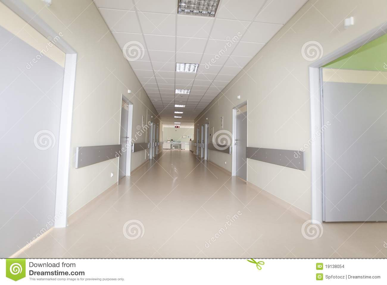 Hospital Hallway Stock Images Image 19138054