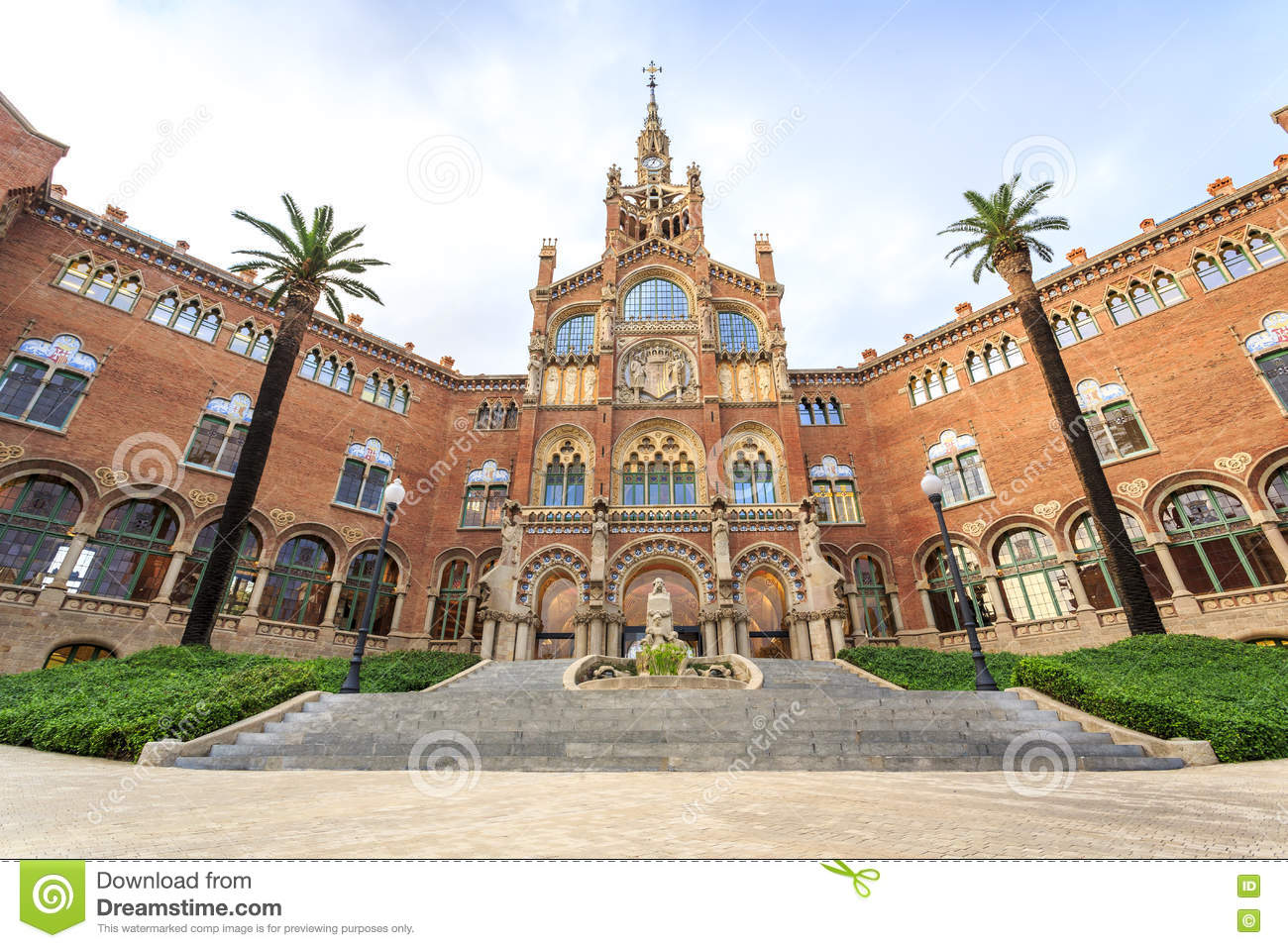 Hospital of the Holy Cross and Saint Paul by A. Gaudi, Barcelona