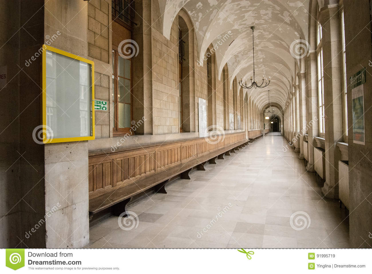 Hospital Hotel-Dieu In Paris Stock Image - Image of garden, place ...