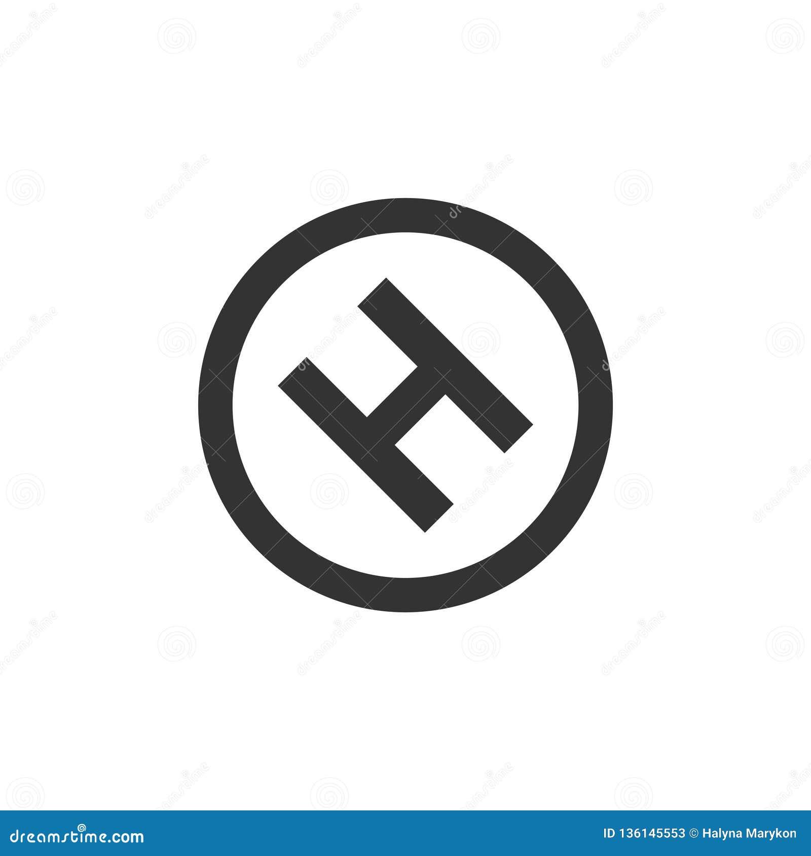Hospital icon flat