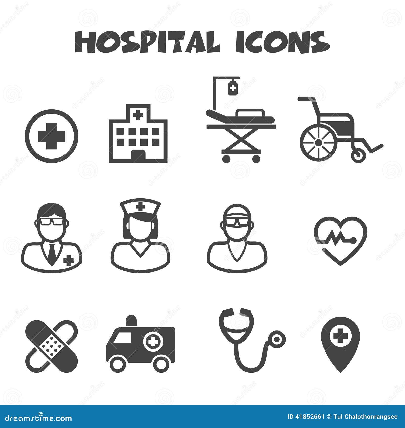 Hospital Icons Stock V...