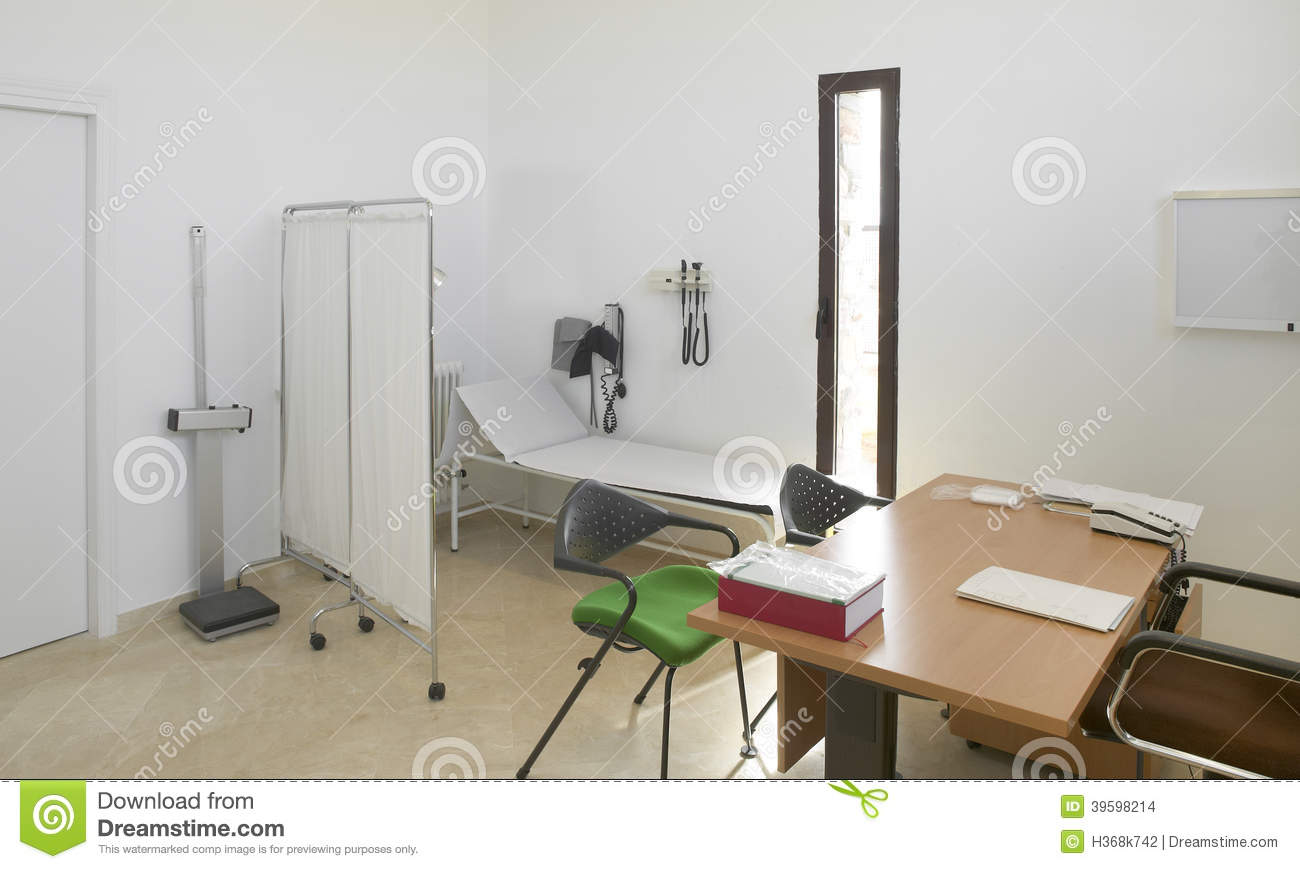 hospital interior doctors office with furniture stock photo
