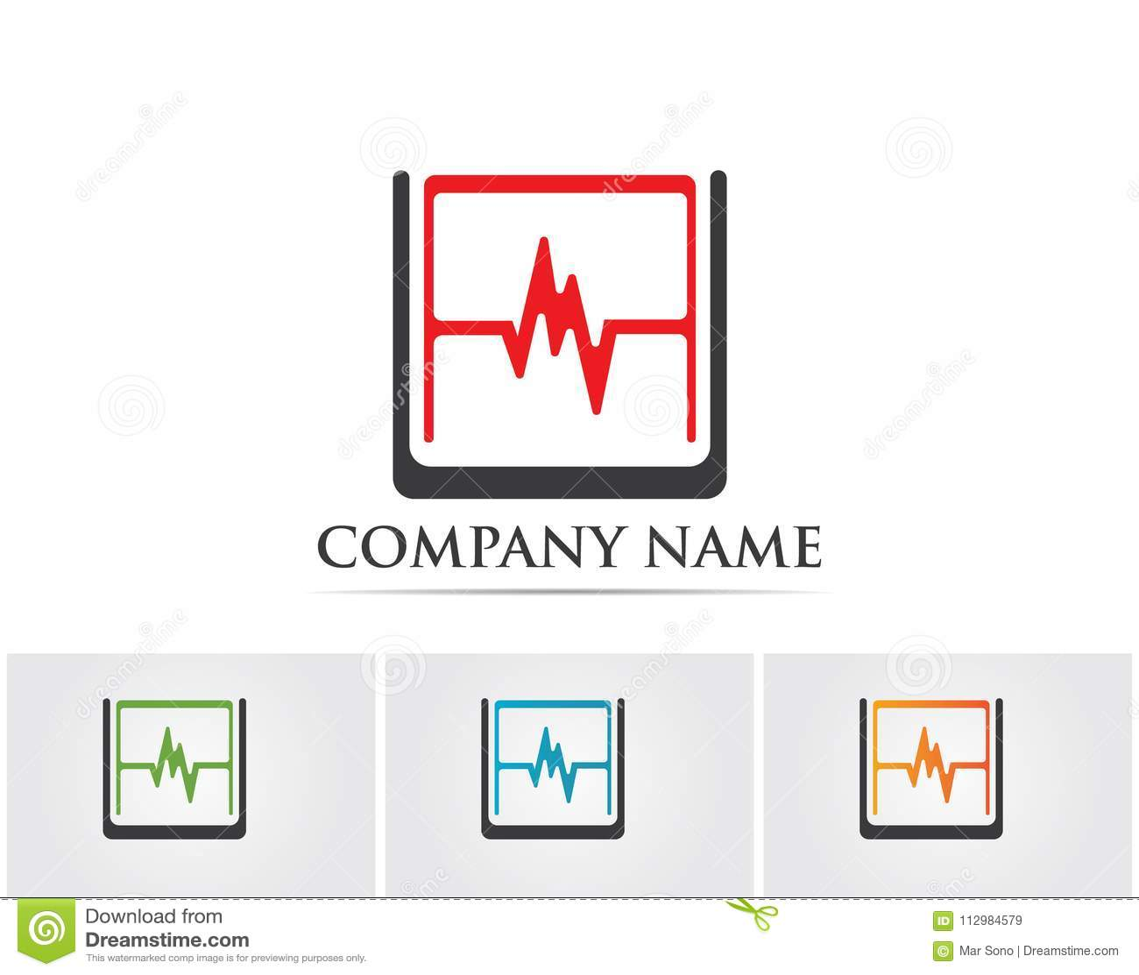 Hospital logo and symbols template icons app..