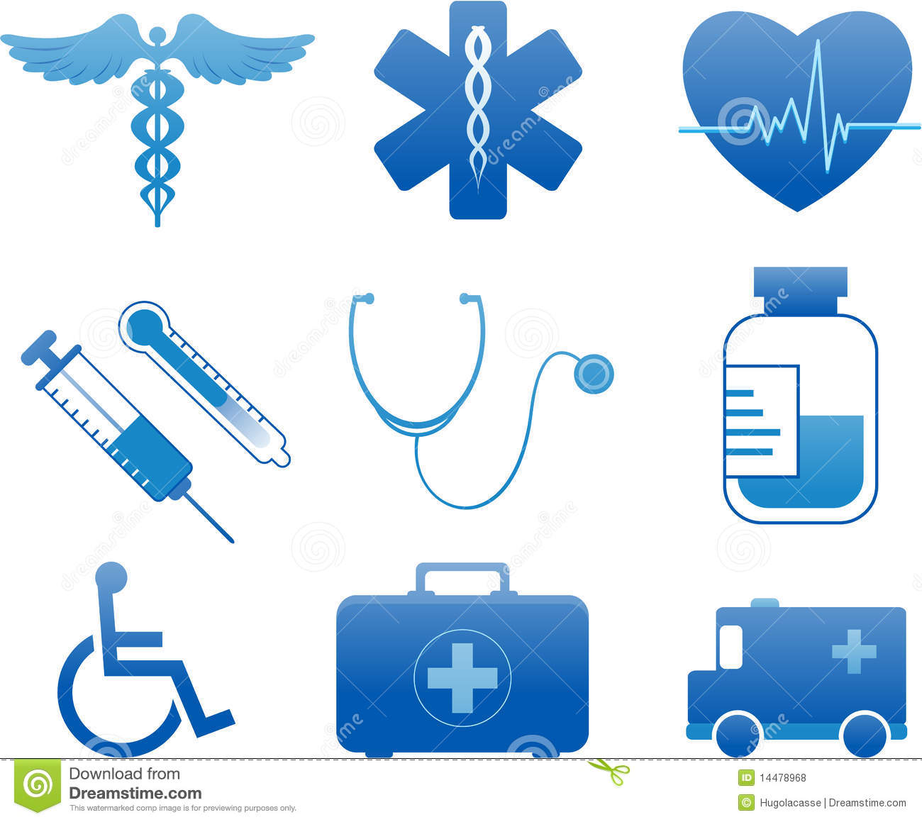 Hospital And Medical Icons Royalty Free Stock Photos - Image: 14478968