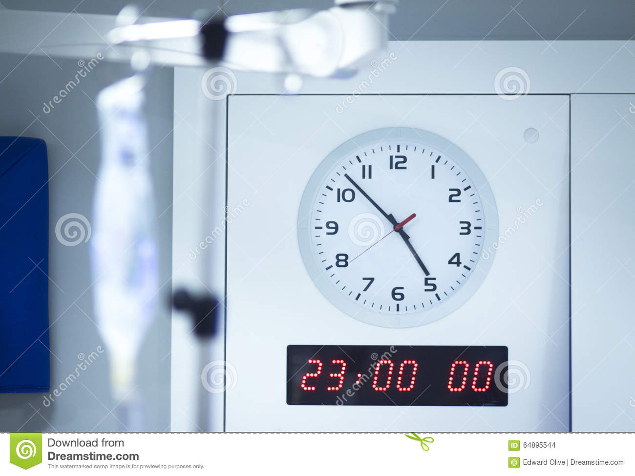 hospital operating room clock stock photo