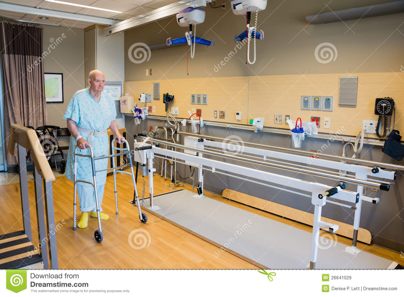 Hospital Patient Physical Therapy Facility Royalty Free