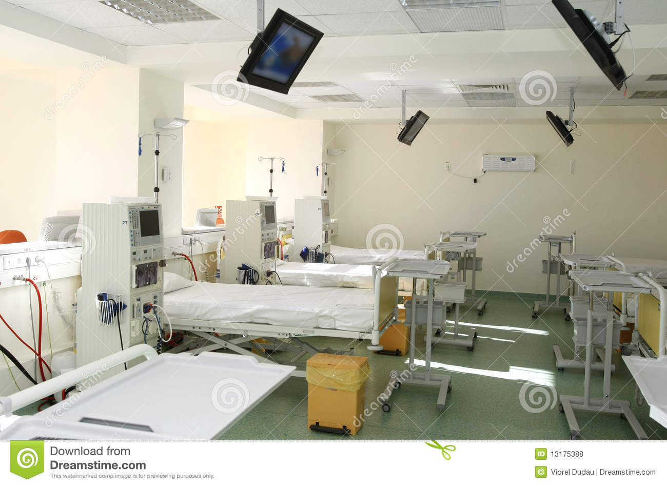 Hospital room interior stock photo image of equipment for Interior decoration equipment
