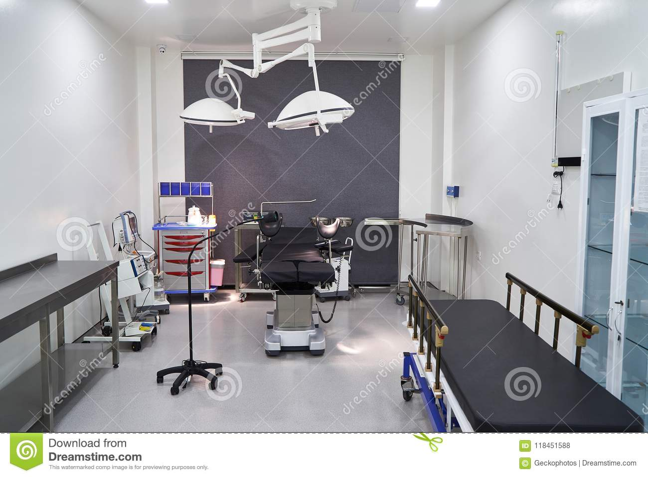 Hospital Room Interior With Beds Stock Photo Image Of Operating