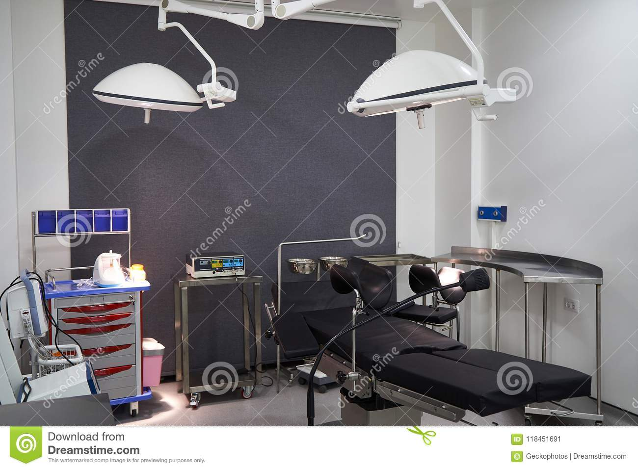 Hospital Room Interior With Beds Stock Image Image Of Equipped