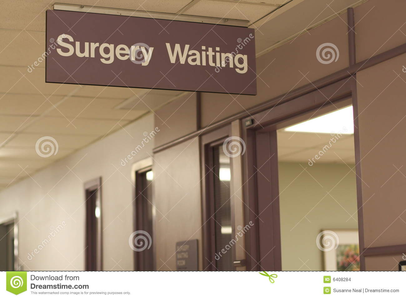 Clean And Shiny >> Hospital Sign: Surgery Waiting Stock Photo - Image of background, healthcare: 6408284