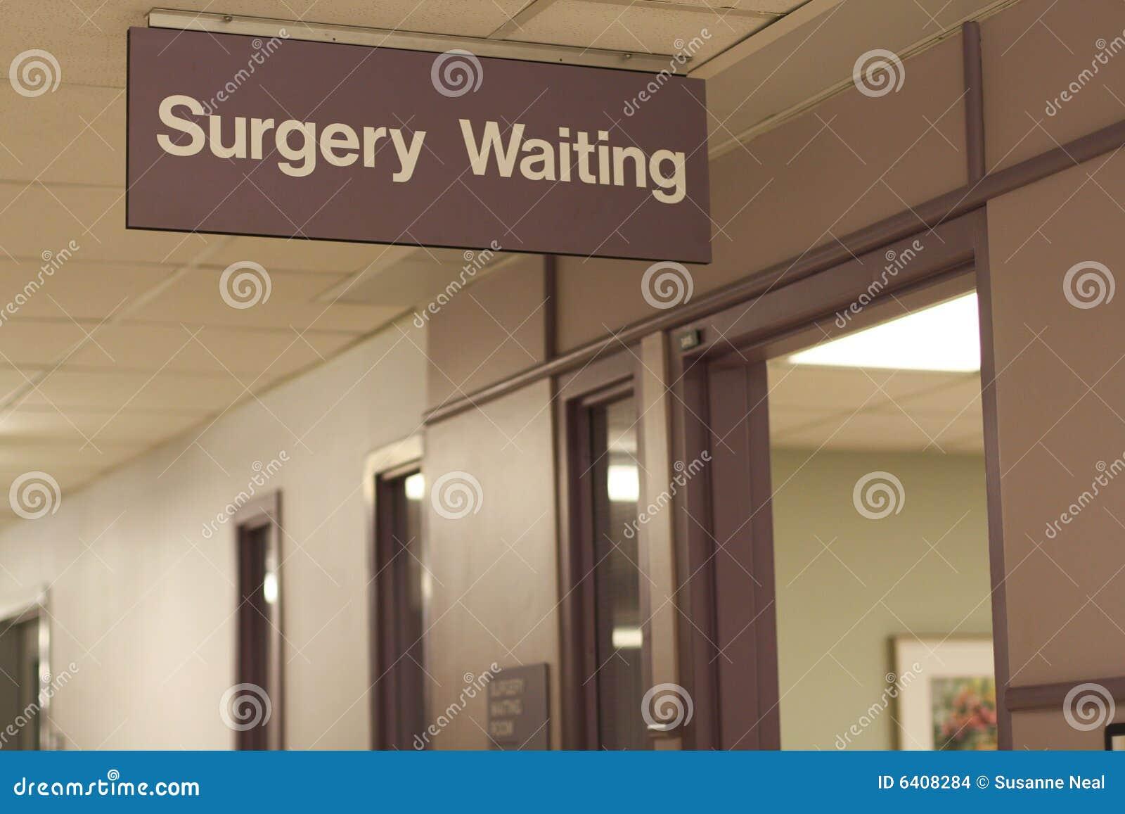 Hospital Sign Surgery Waiting Stock Photo Image Of