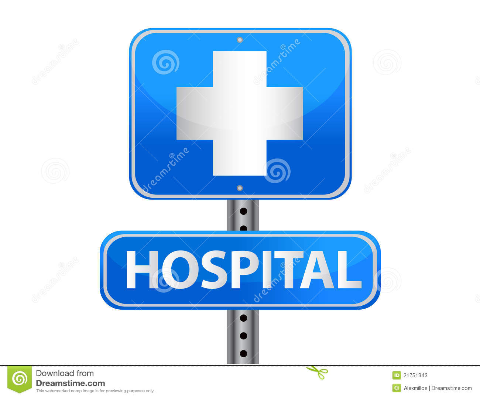 hospital street sign stock photos