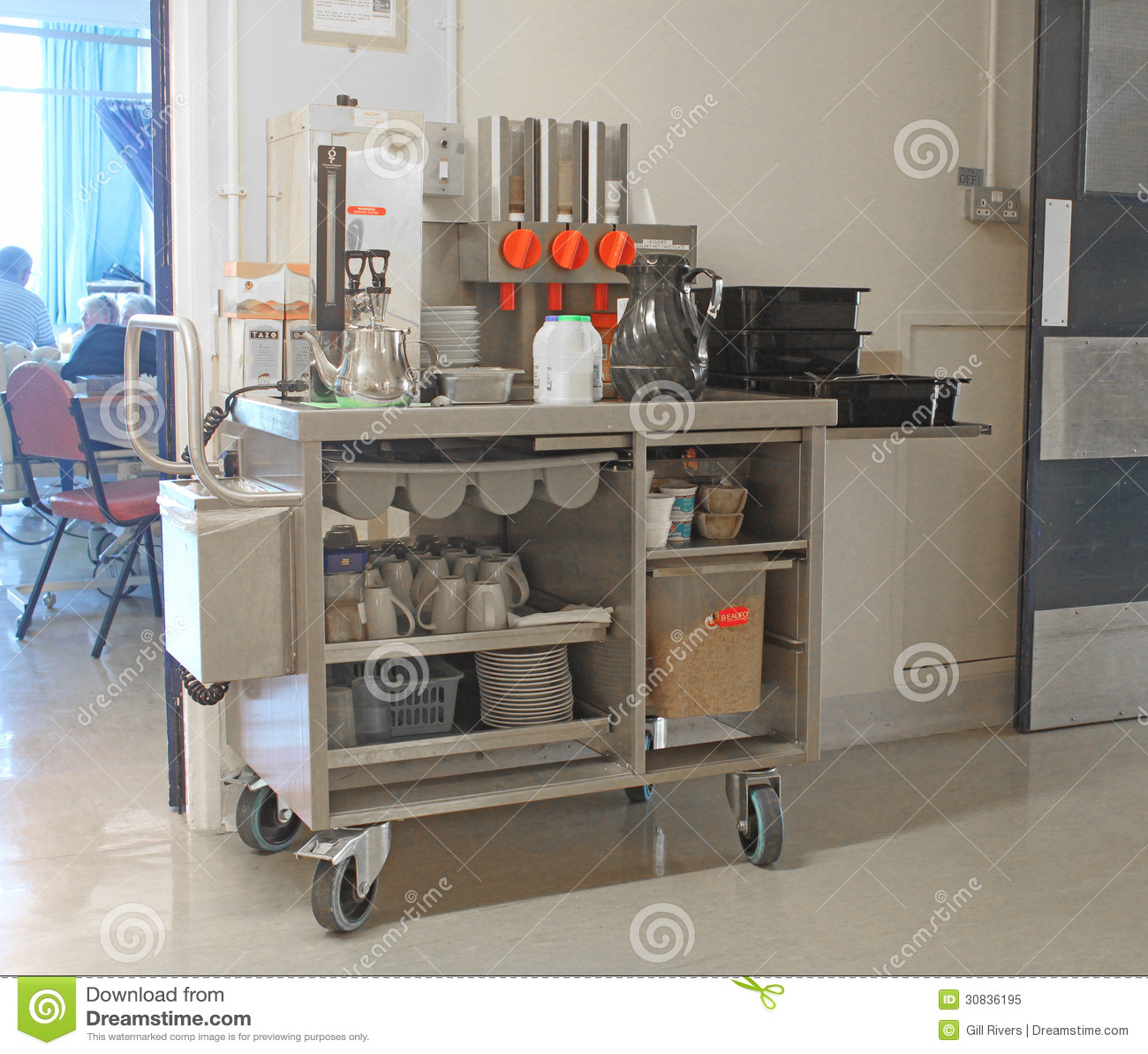 Hospital Tea Trolley editorial image Image of industries 30836195