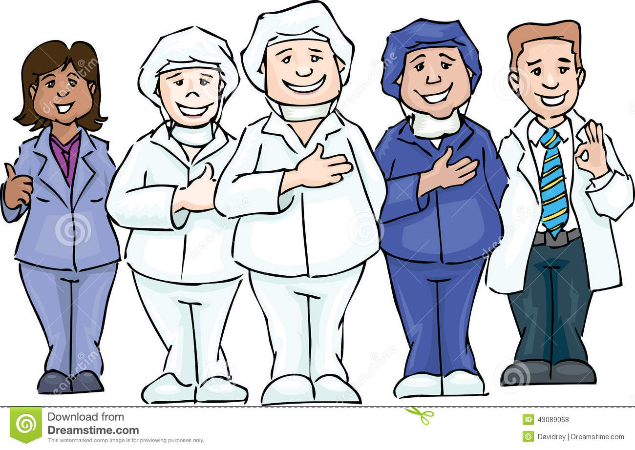 Group Of Doctors Clipart Hospital team stock ve...