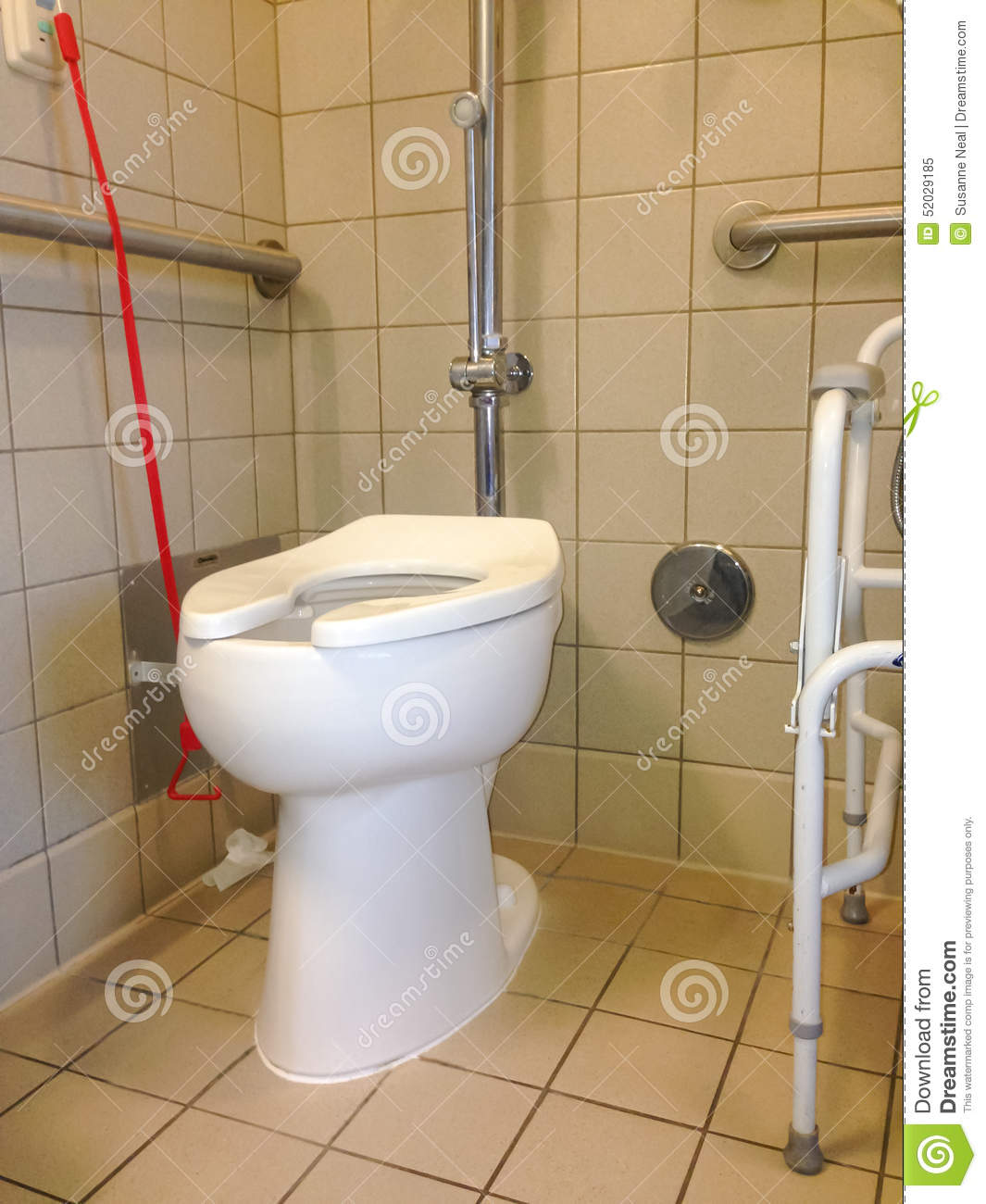 Hospital Toilet With Call-for-assistance Bell Stock Image - Image of ...