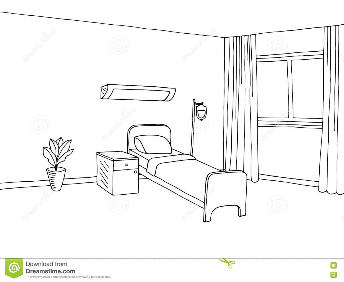 Hospital room coloring pages