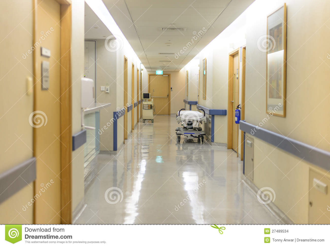 Hospital Ward Hallway Stock Photo Image Of Diagnostic