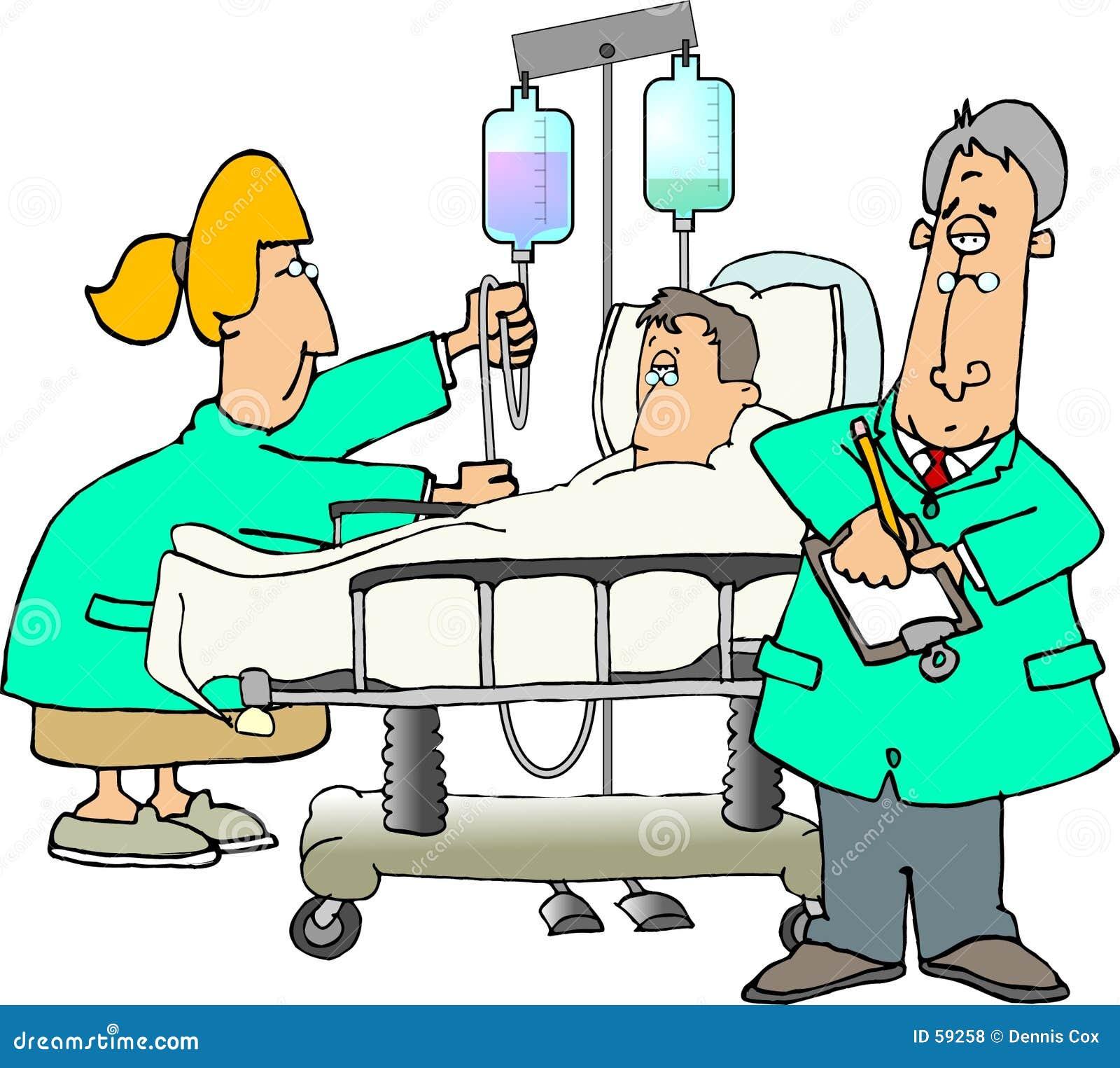 Download Hospitalisé illustration stock. Illustration du soins, hôpital - 59258