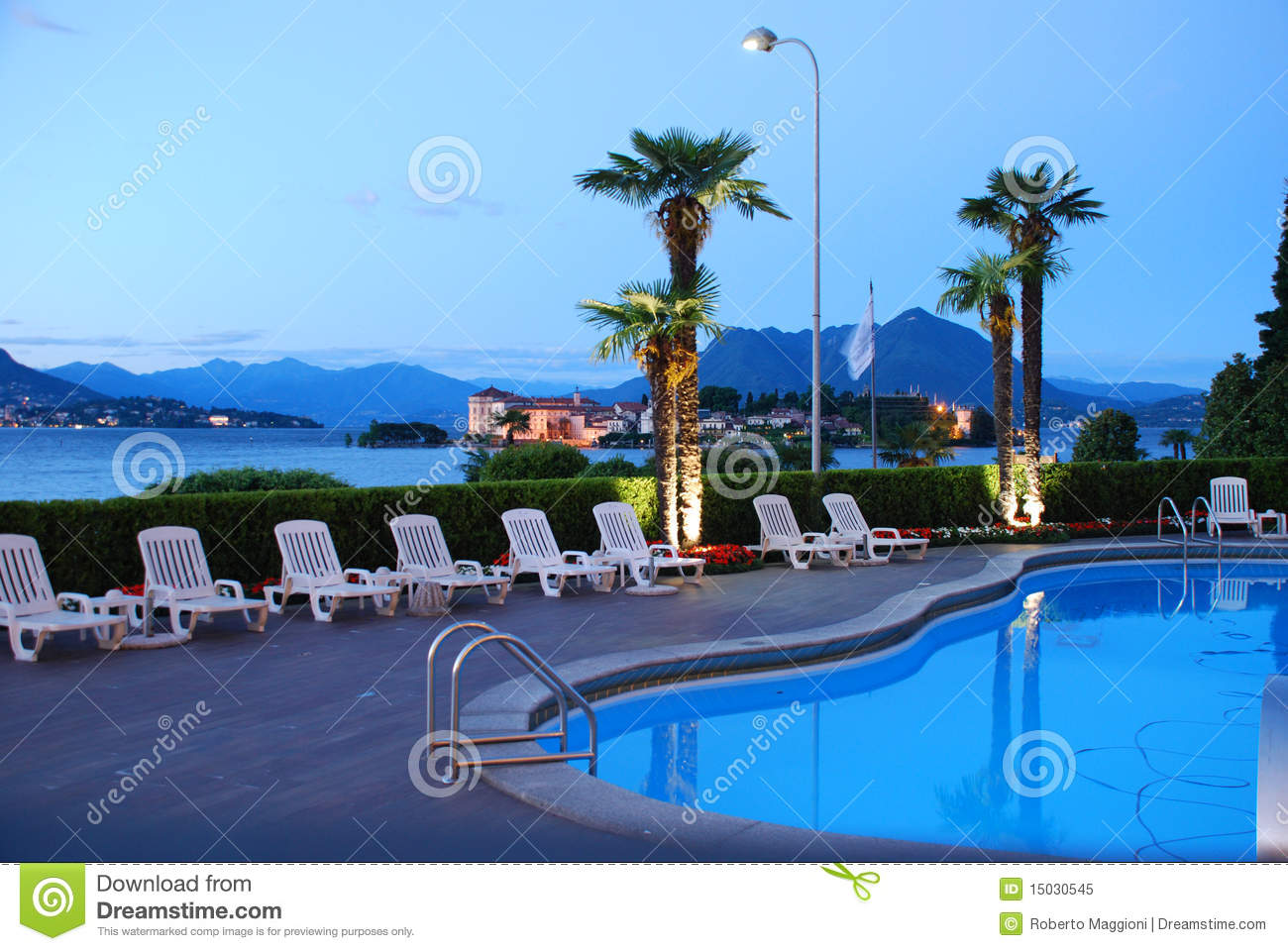 Luxury Hotel Lago Maggiore Italy Swimming Pool Royalty Free Stock Photo Image 15030545