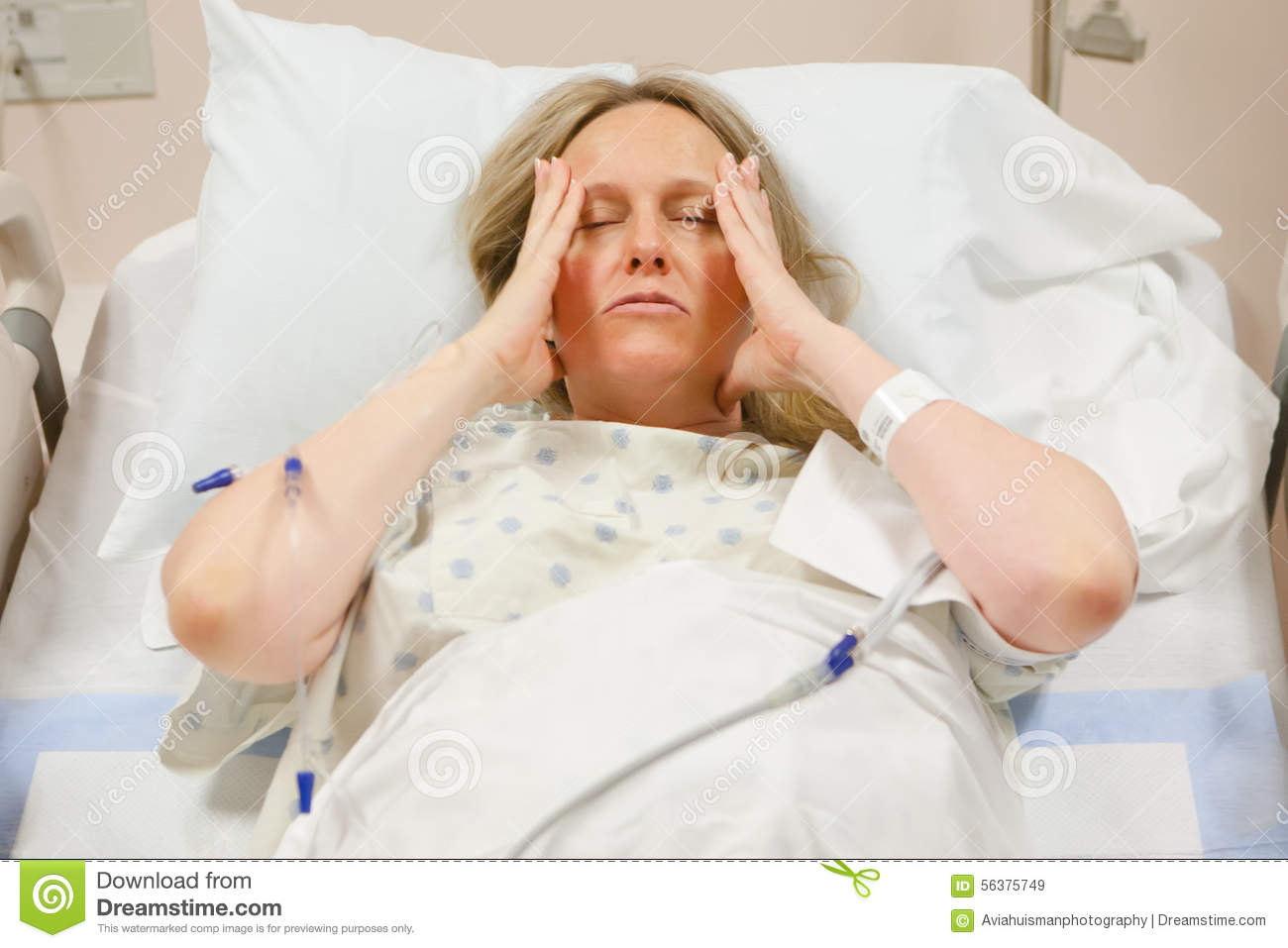 woman in hospital stock photo image 56375749