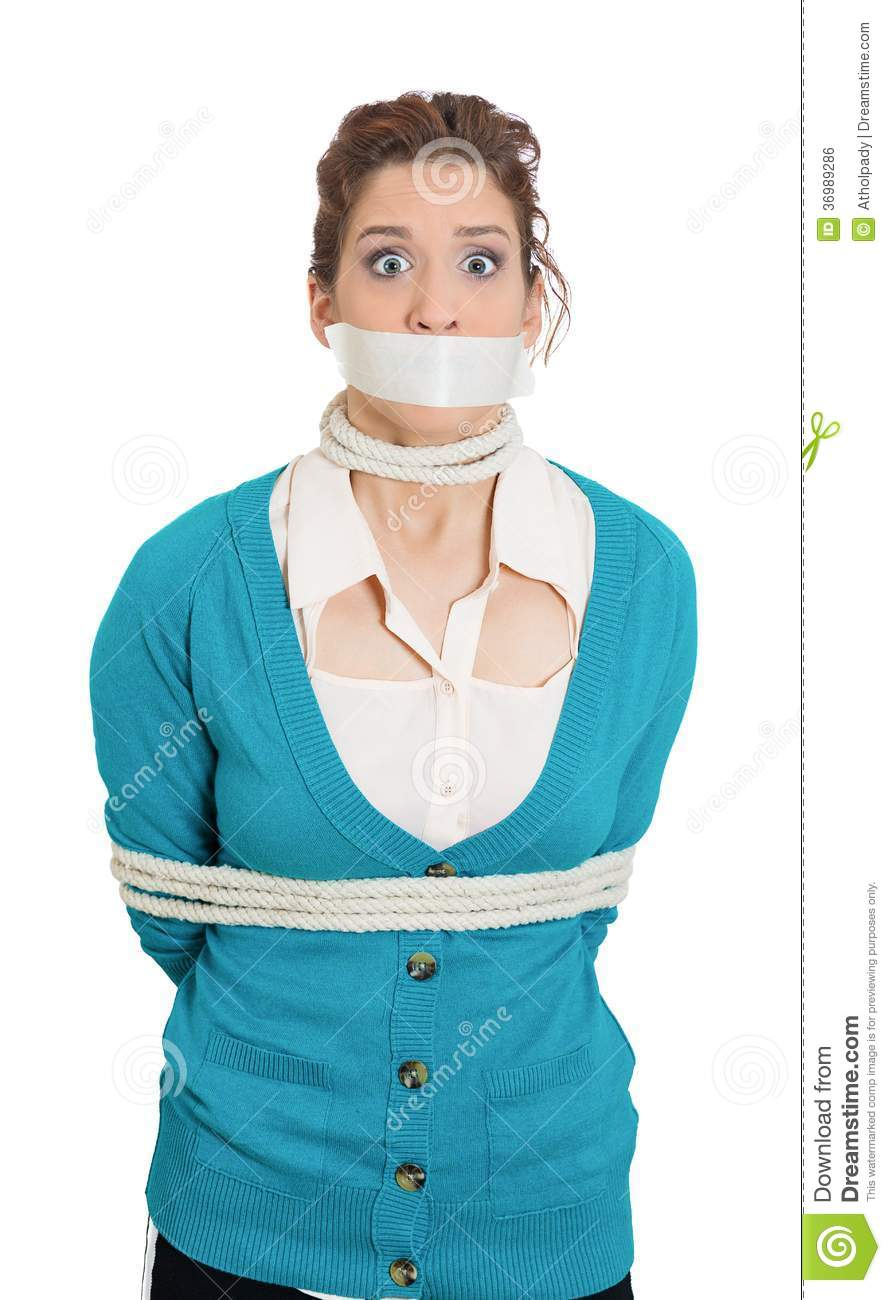 Criminal tied up and gagged 7