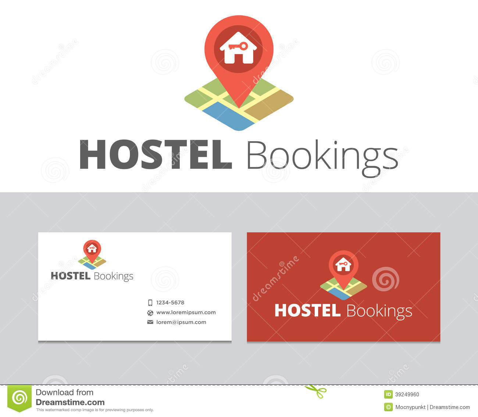 Hostel Bookings Logo Stock Vector Image 39249960