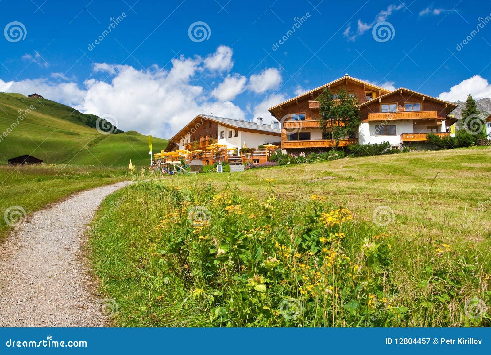 Hotéis em um monte