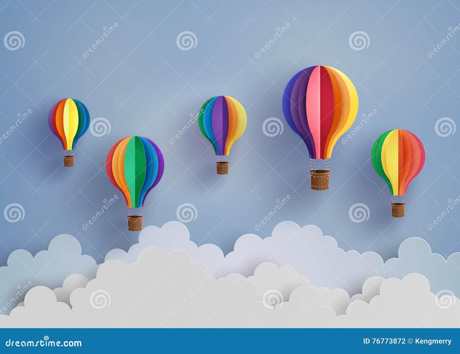 Hot air balloon and cloud stock vector illustration of style hot air balloon and cloud jeuxipadfo Choice Image